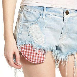 NWOT Show Me Your Mumu Cabo jean cut off shorts 31